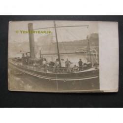 Dordrecht 1920 - stoomboot Liena II - fotokaart