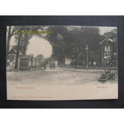 haarlem ca. 1905 - Kennermerplein met stoomtram