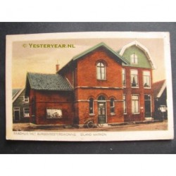 Marken ca. 1925 - raadhuis met burgemeesterswoning