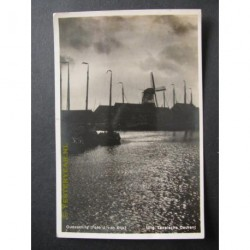 Texel - Oudeschild 1933 - haven met molen