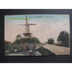 Wateringen 1938 - weg naar Kwintsheul - molen Windlust