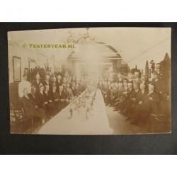 Krommenie 1926 - Brandweer personeelsfeest - fotokaart