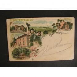 Montferland 1902 - groet van - litho