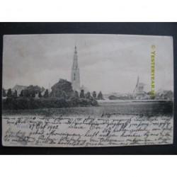 Weert 1902 - gezicht op - kerk- molen