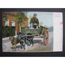 Noordbrabants Dorpsleven 1915 - hondenkar melkkar - Den Dungen