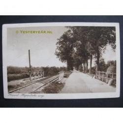 Hapert 1925 - Hapertscheweg met stoomtram