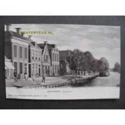 Heerenveen ca. 1905 - Heideburen met tramhalte