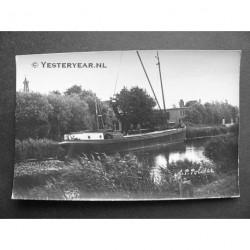 Anna Paulownapolder - schip op de vaart - fotokaart