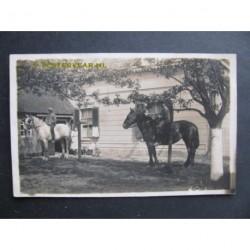 Strijen ca. 1925 - familie te paard- boerderij- fotokaart
