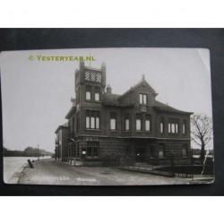 Waddinxveen ca. 1930 - Raadhuis - fotokaart
