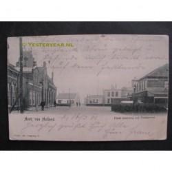 Hoek van Holland 1905 - Einde Straatweg met postkantoor