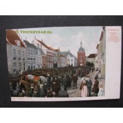 Vianen ca. 1905 - Paardenmart-Voorstraat met Lekpoort