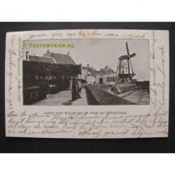 Wijk bij Duurstede 1903 - Langs den Walmuur bij de molen