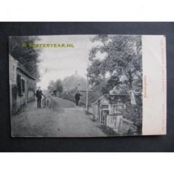 Herwijnen 1905 - dorpsgezicht - dijk