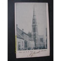 Klundert ca. 1900 - bij de kerk