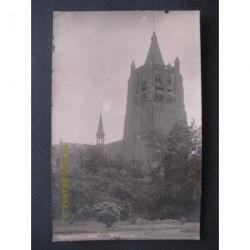 Chaam ca. 1925 - groeten uit - kerk - fotokaart