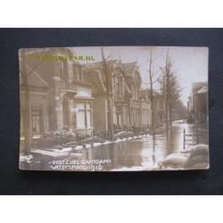 Zaandam 1916 - watersnood - Oostzijde - fotokaart