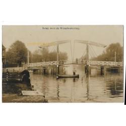 Woubrugge 1911 - brug over de Woudwatering - fotokaart