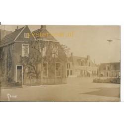 Grouw ca. 1925 - dorpsgezicht - fotokaart