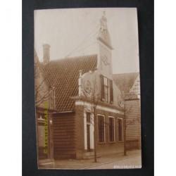 Krommenie ca. 1930 - oude Zaanse gevel - fotokaart