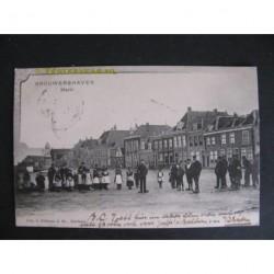 Brouwershaven 1903 - Markt