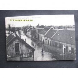 Kloosterzande 1906 - watersnood - dorpsstraat