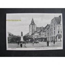 Maastricht ca. 1915 - Standbeeld van Minkeleers en St.Mathiasker