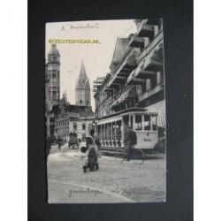 Den Haag ca. 1910 - R.Gravenstraat - tram
