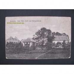 Gameren 1939 - Ned.Herv.Kerk met Gemeentehuis