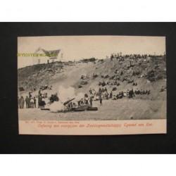 Egmond aan Zee ca. 1915 - oefening Reddingmij. Egmond