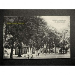 ST.Oedenrode ca. 1915 - Marktzicht noordzijde