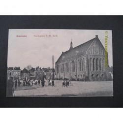 Winschoten ca. 1915 - Marktplein en N.H.Kerk