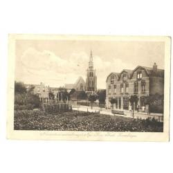 Zevenbergen 1910 - Nieuwestraat met achterzijde Ned.Herv.Kerk