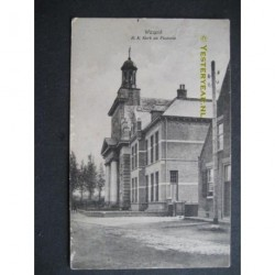 Waspik 1918 - R.K.Kerk en Pastorie
