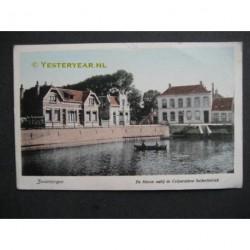 Zevenbergen 1918 - Haven nabij Coop. Suikerfabriek