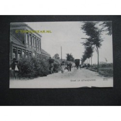 Stavenisse ca.1900 - groet uit - school