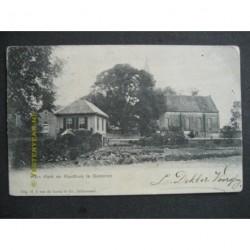 Gameren 1902 - Herv.Kerk en raadhuis