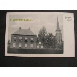 Liempde 1920 - R.K.Kerk en pastorie