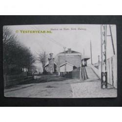 Halfweg ca. 1910 - Station en Herv.Kerk