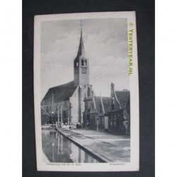 Krommenie 1917 - Heiligeweg met N.H.Kerk