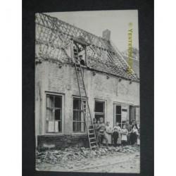 Sluis 1917 - Bommen Nieuwstraat W.O.I
