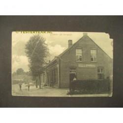 Bergeijk 1910 - groeten uit - cafe v. Berkel