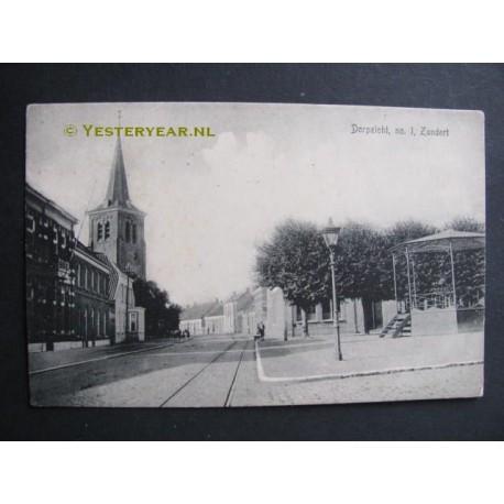 Zundert 1908 - Dorpszicht no. 1 - met muziekkiosk