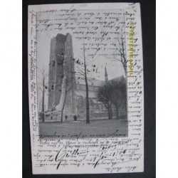 Oirschot 1905 - toren St.Pieterskerk ingestort