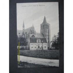 Wouw 1915 - R.K.Kerk en raadhuis