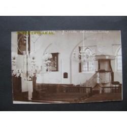 Almkerk 1910 - Herv.Kerk - interieur - fotokaart