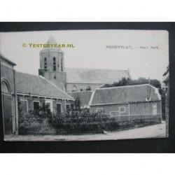 Poortvliet ca. 1905 - Herv.Kerk - woonhuis en school