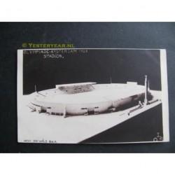 Amsterdam 1928 - herinneringskaart I.O.S. stadion-fotokaart