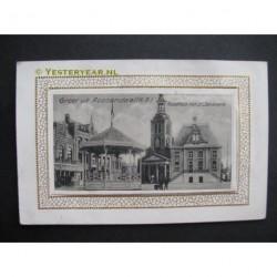 Roosendaal ca. 1925 - Raadhuis met St.Janskerk e kiosk