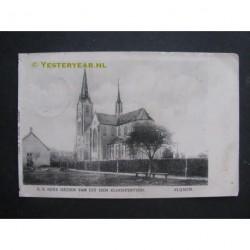 Vlijmen 1912 - R.K.Kerk vanuit de kloostertuin